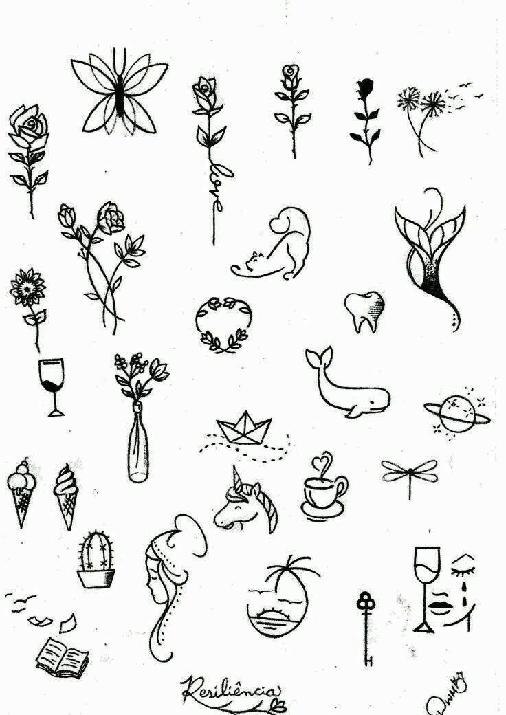 Me Gustan Los Tatuajes Que Quedan Delicados Desenhos Pequenos Para Tatuagem Tatuagem Tatuagens