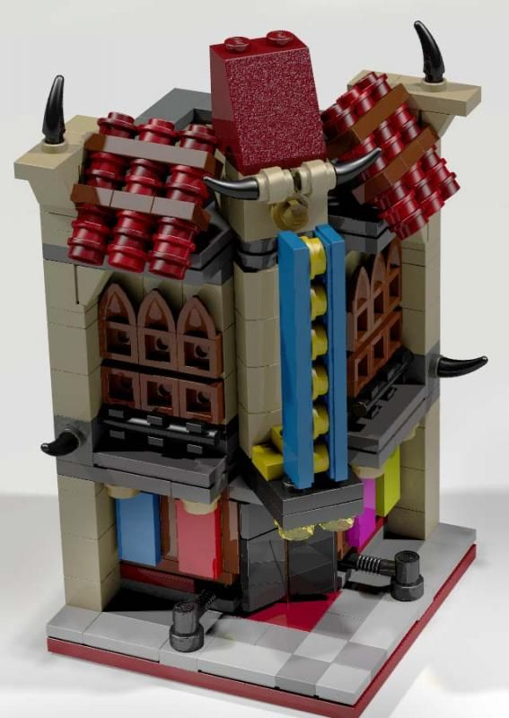 moc mini modular palace cinema lego town lego pinterest lego lego bauen und lego haus. Black Bedroom Furniture Sets. Home Design Ideas