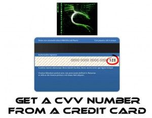 How you can get CVV number from your credit card if you have all the rest of the information but you don't have the security code.