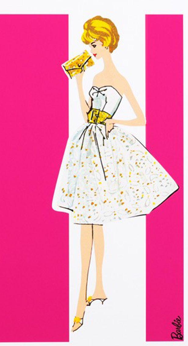 Artwork Party Date イラスト バービー 50年代 ファッション イラスト