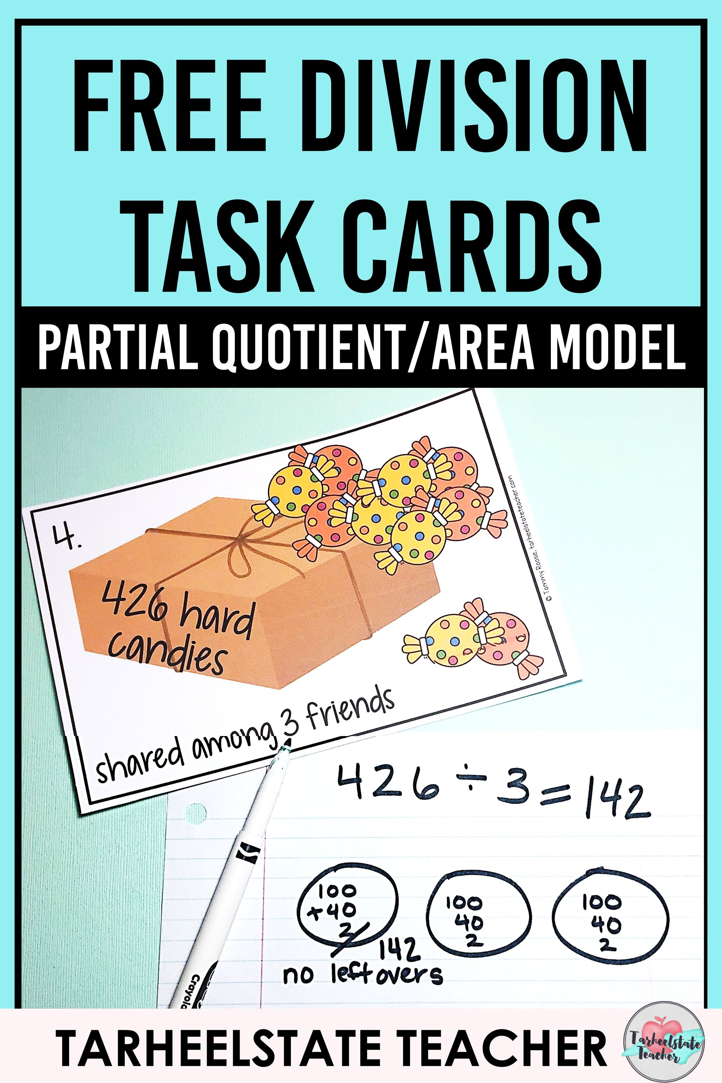 Free Area Model Division Teaching Resource
