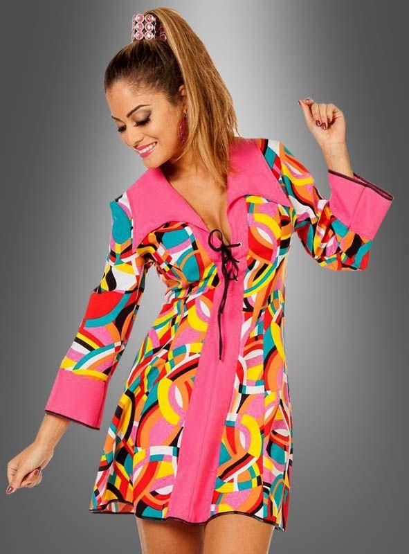 70er Kleid pink Disco Kostüm ♥ bei Kostümpalast | 70er ...