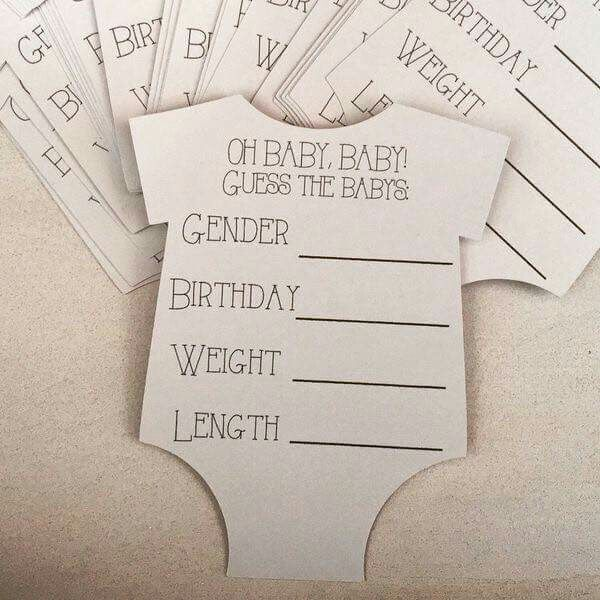Guess The Baby Stats Baby Prediction Cards Prediction Cards