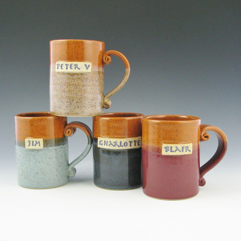 Handmade Coffee Mug, ONE Custom Name Mug, Personalized