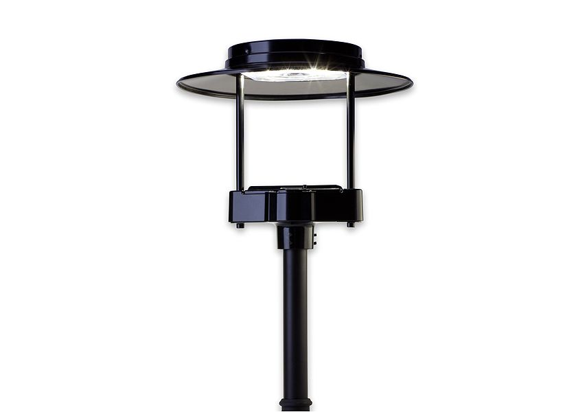 Ge Outdoor Area Lighting Fixture Eptc Evolve Led Post Top Contemporary Twin Support Luminaire