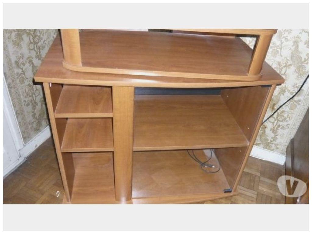 unique meuble tv roulettes plateau