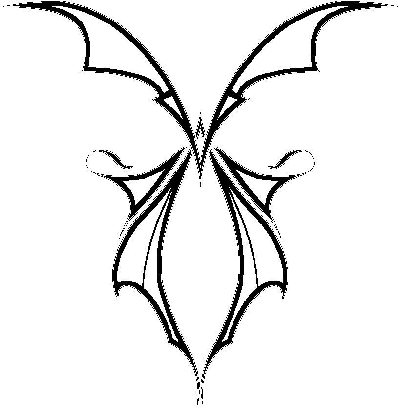 Gothic butterfly | Butterfly outline images, Butterfly ...