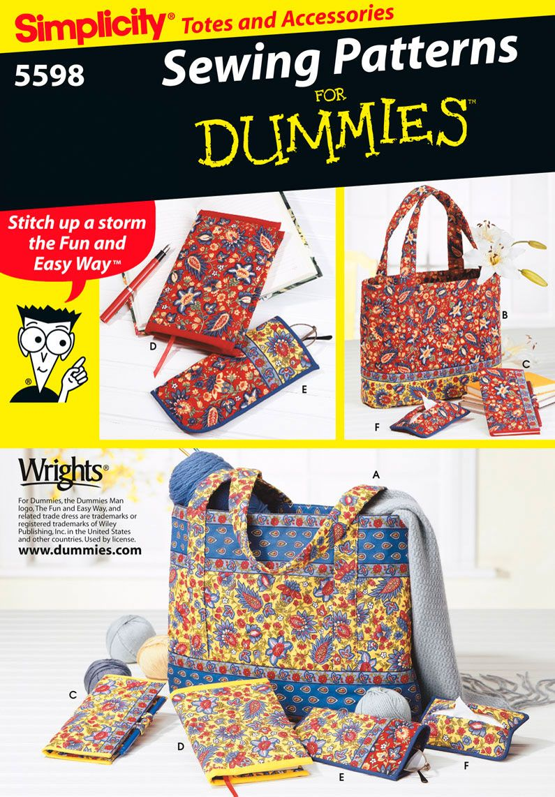Tote bags wallets easy sewing pattern 5598 simplicity craft tote bags wallets easy sewing pattern 5598 simplicity jeuxipadfo Choice Image