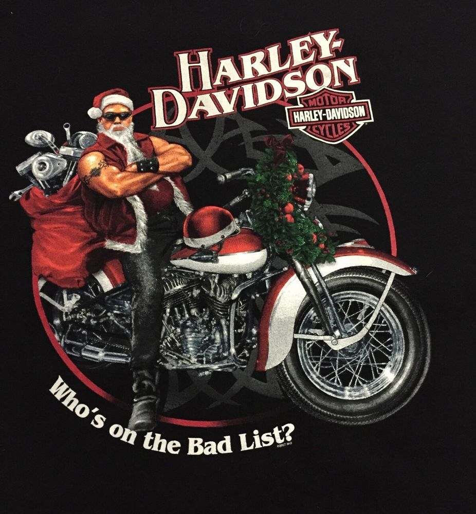 c5db55d7 Harley Davidson Santa Claus West Palm Florida Large Short Sleeve Tee T-Shirt
