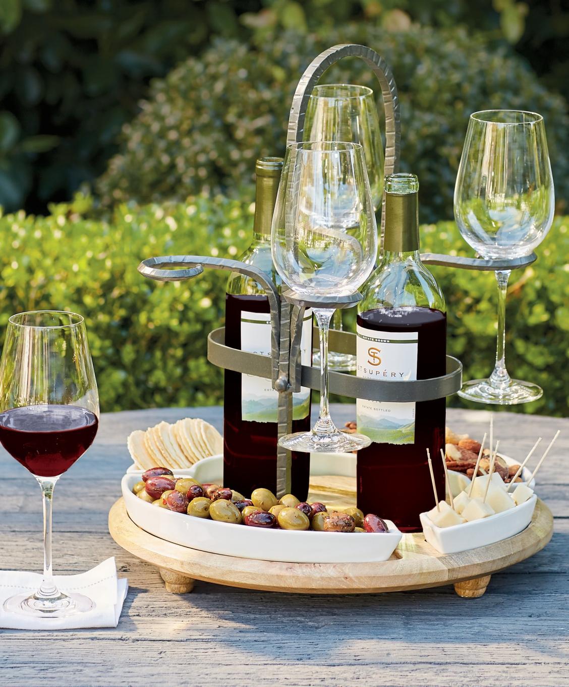 Weston Wine Caddy Frontgate Wine Caddy Wine House Wine Glass Holder