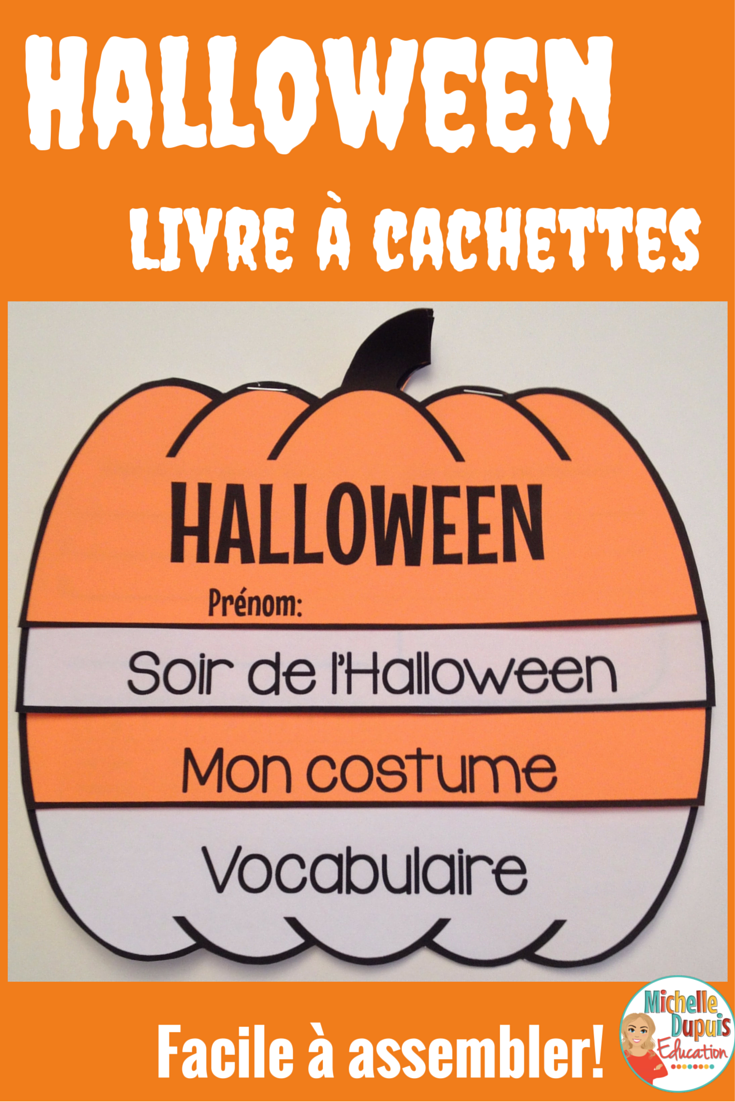 Halloween Livre A Cachettes French Halloween Flip Book