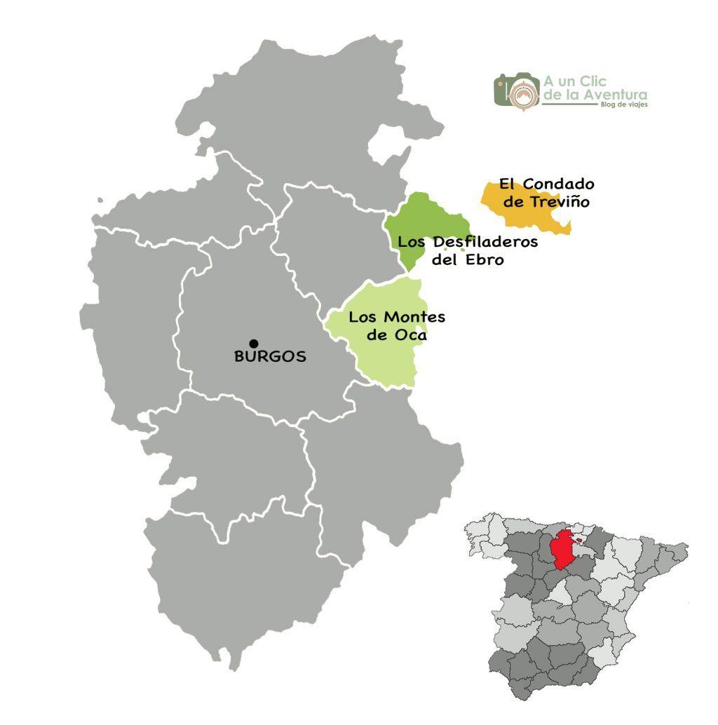 Condado De Treviño Mapa.Mapa Del Condado De Trevino Montes De Oca Y Desfiladeros