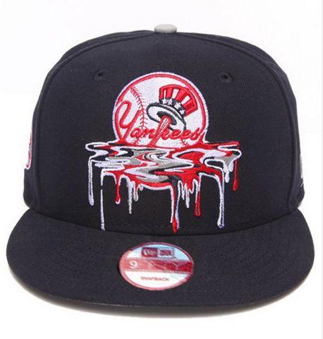 1d90f3d3402 MLB Snapbacks Melting Liquid New York Yankees Hats Black 301! Only  8.90USD
