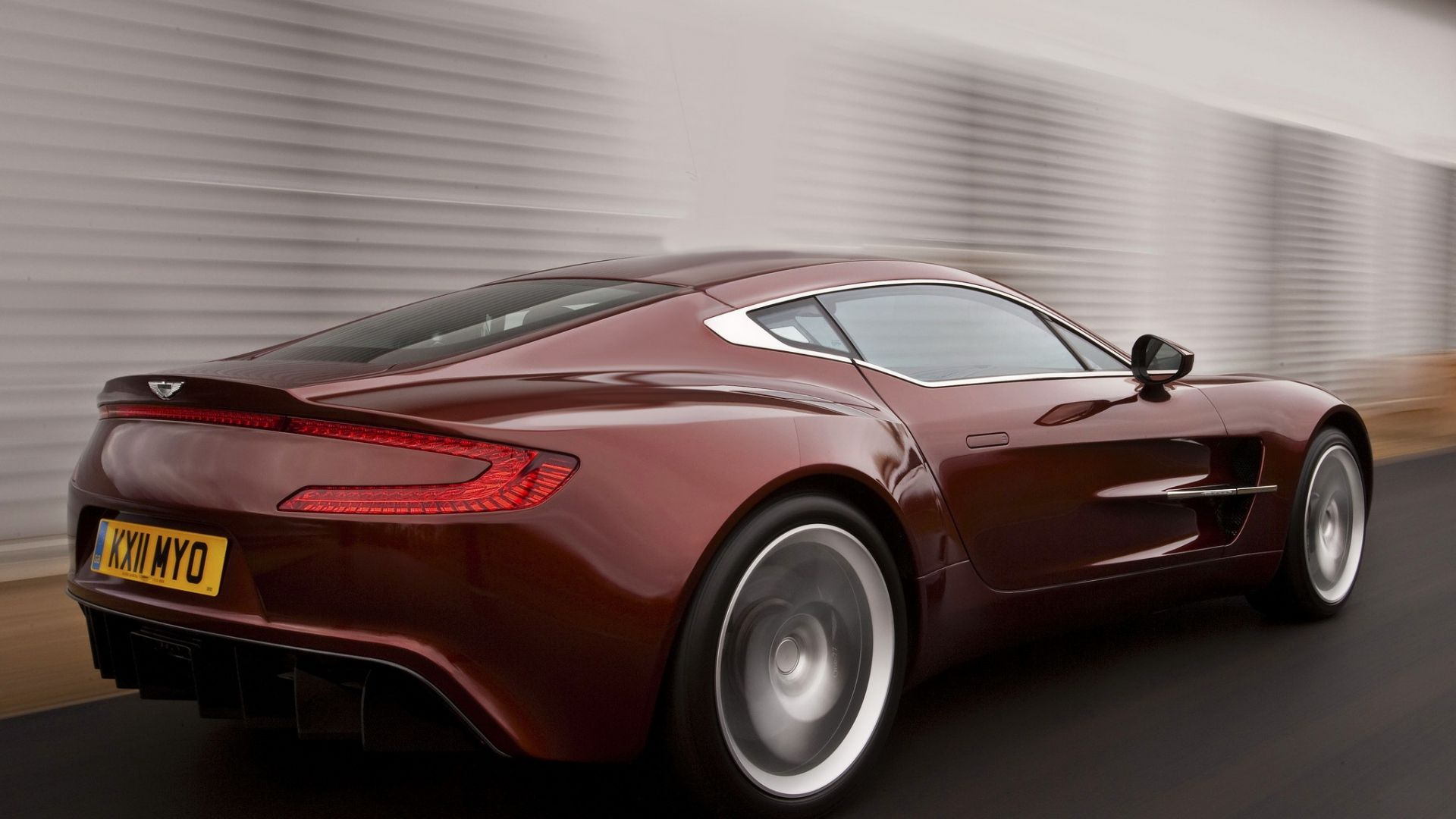 1920x1080 Wallpaper Aston Martin One 77 2009 Red Side View
