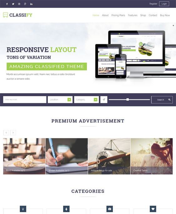 This job board WordPress theme comes with unlimited colors