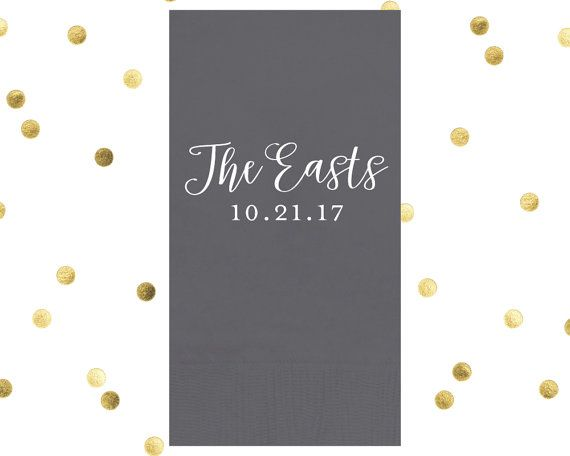 Party Napkin Wedding Guest Towel Weddingsrestroom Foil 3ply 4 25