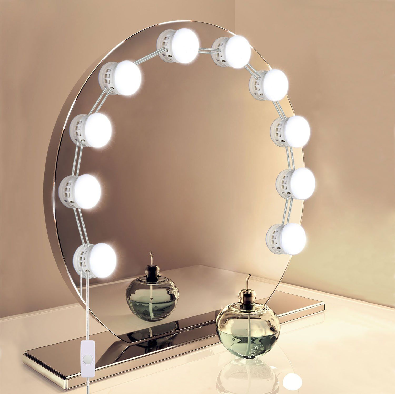 Vanity mirror lights unifun hollywood style led makeup mirror