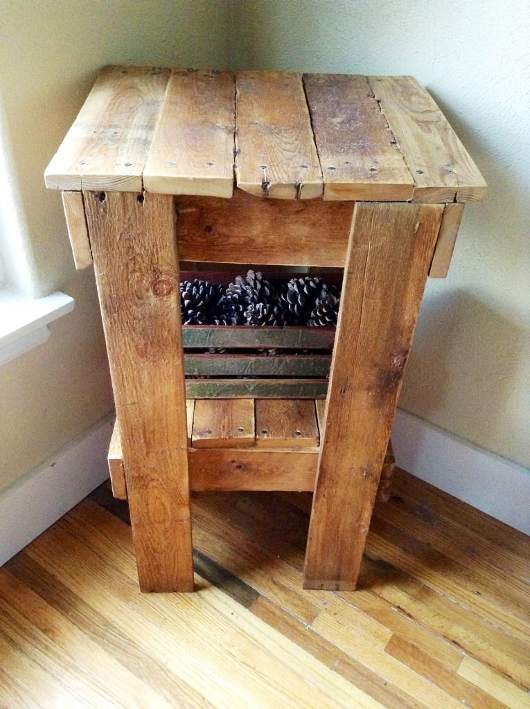 Homemade Wooden End Tables