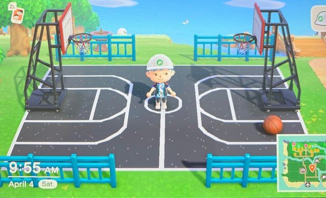 25 Designs For A Basketball Court Animalcrossing In 2020 Animal Crossing Game Animal Crossing Fan Art New Animal Crossing