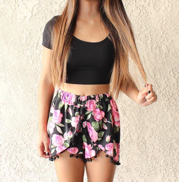 0a6c50416e7f Avess Apparel | Rose Pom Pom Shorts | Online Store Powered by Storenvy
