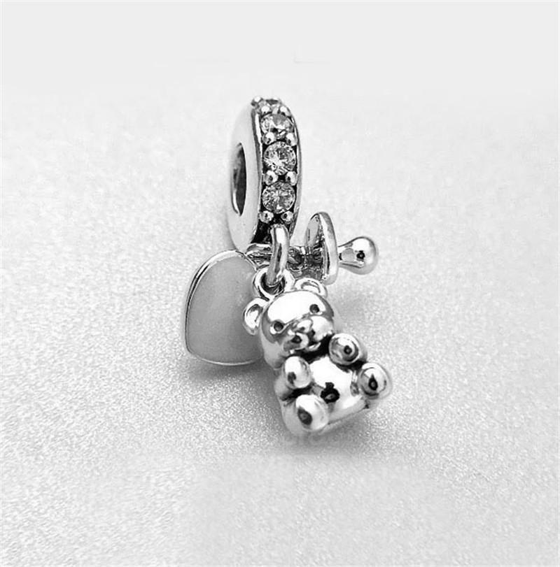 488ea1f2a ... usa fits pandora bracelet baby treasures charm original 925 sterling  silver jewelry diy making charms 2017