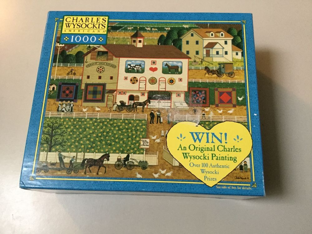 CHARLES WYCOCKI'S AMERICANA 1000 PIECES PUZZLE, AGES 12