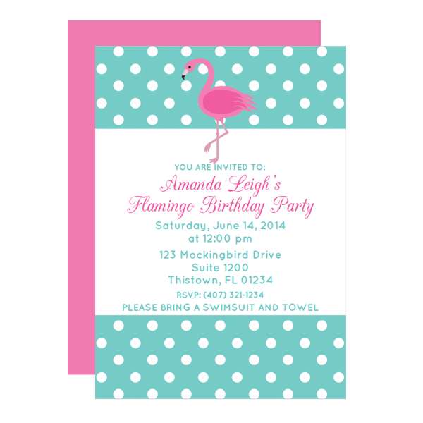 free flamingo printable party invitation template from chicfetti