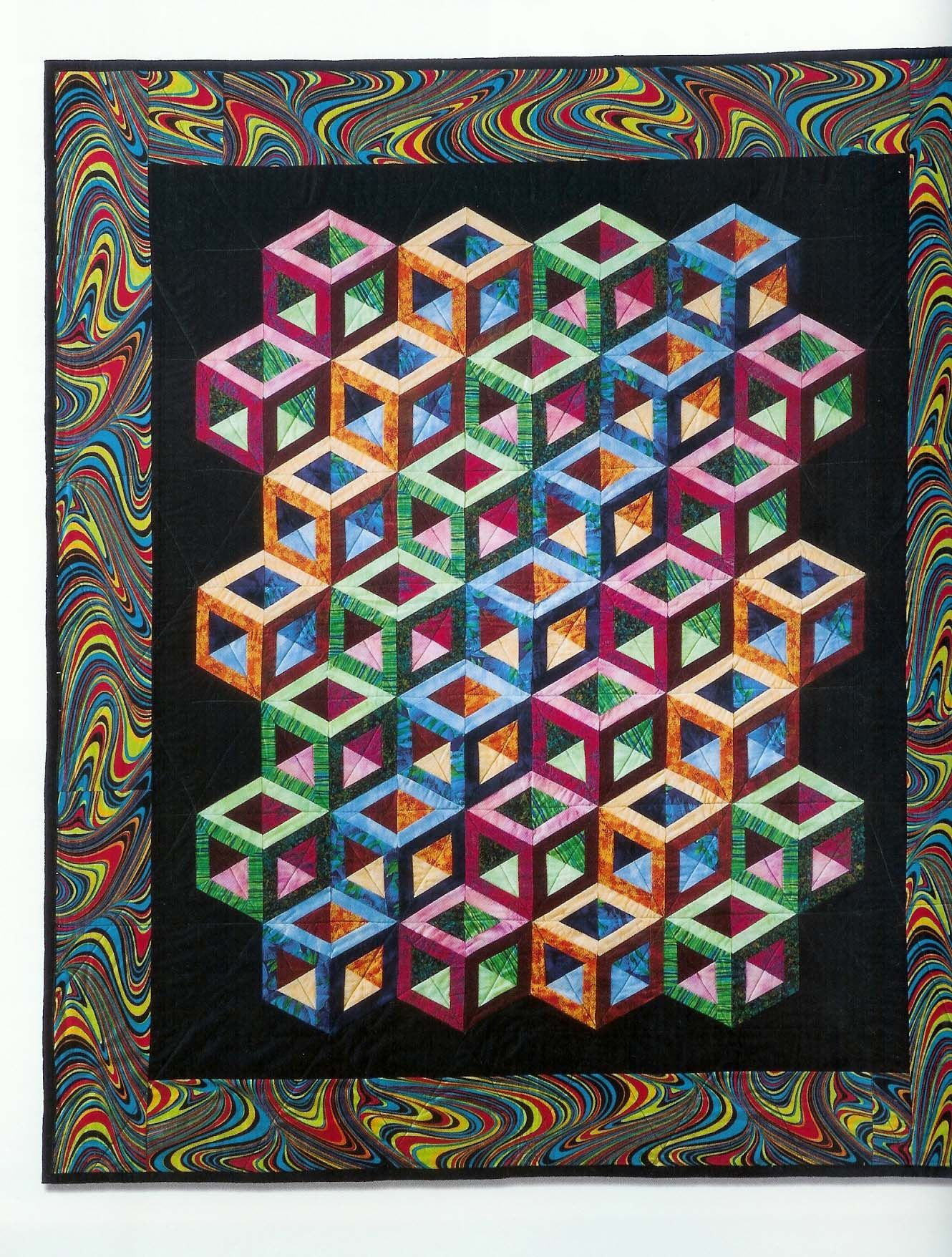 Quilting Patterns Tumbling Blocks : #Tumbling-Blocks-Quilt Quilting Pinterest Tumbling blocks, Block quilt and Patterns