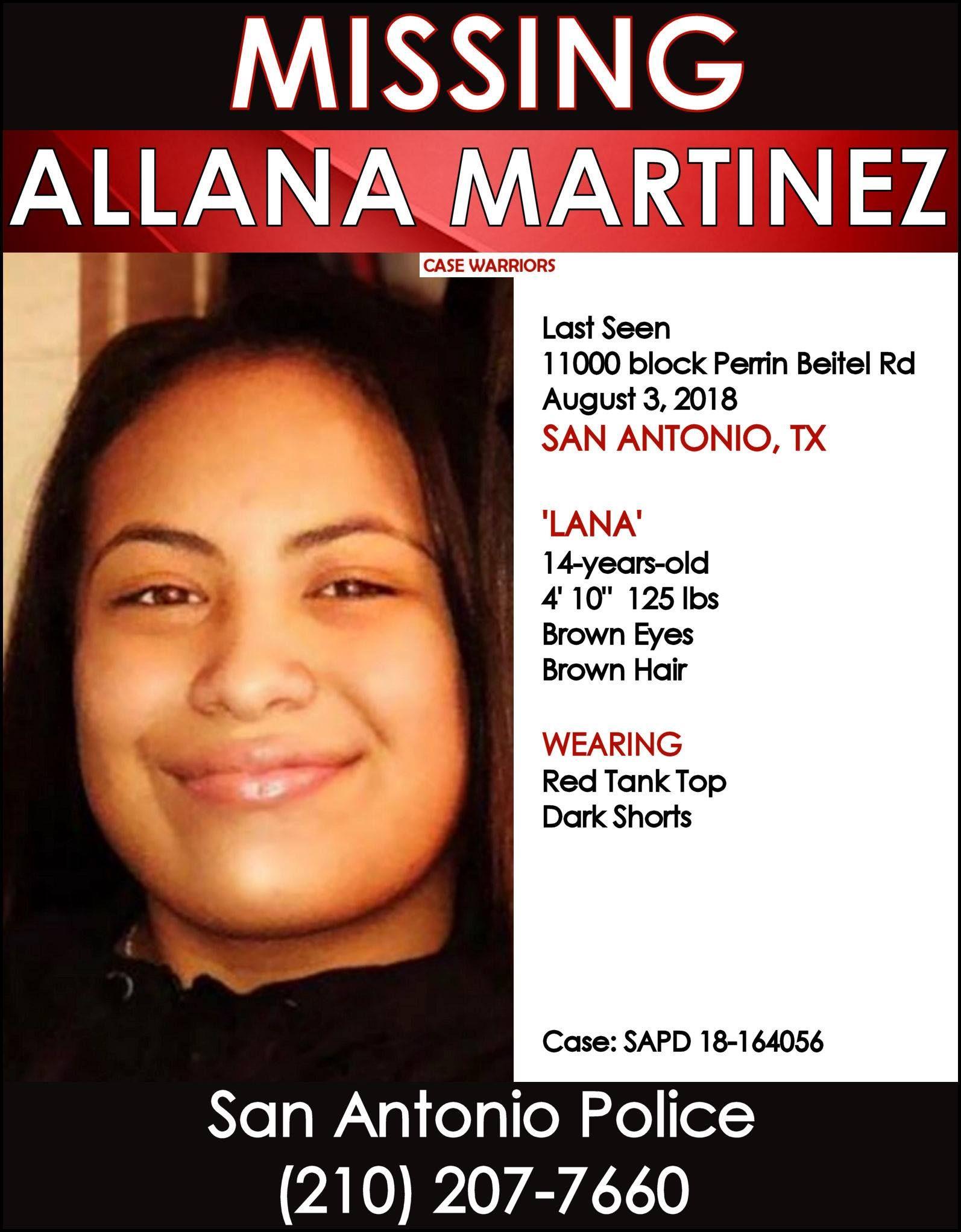 Find Missing Allana Martinez! ***(HAPPY UPDATE: FOUND ALIVE