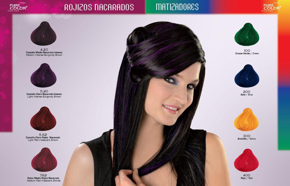 Gama de colores tintes para cabello loquay cabello - Gama de colores rosas ...