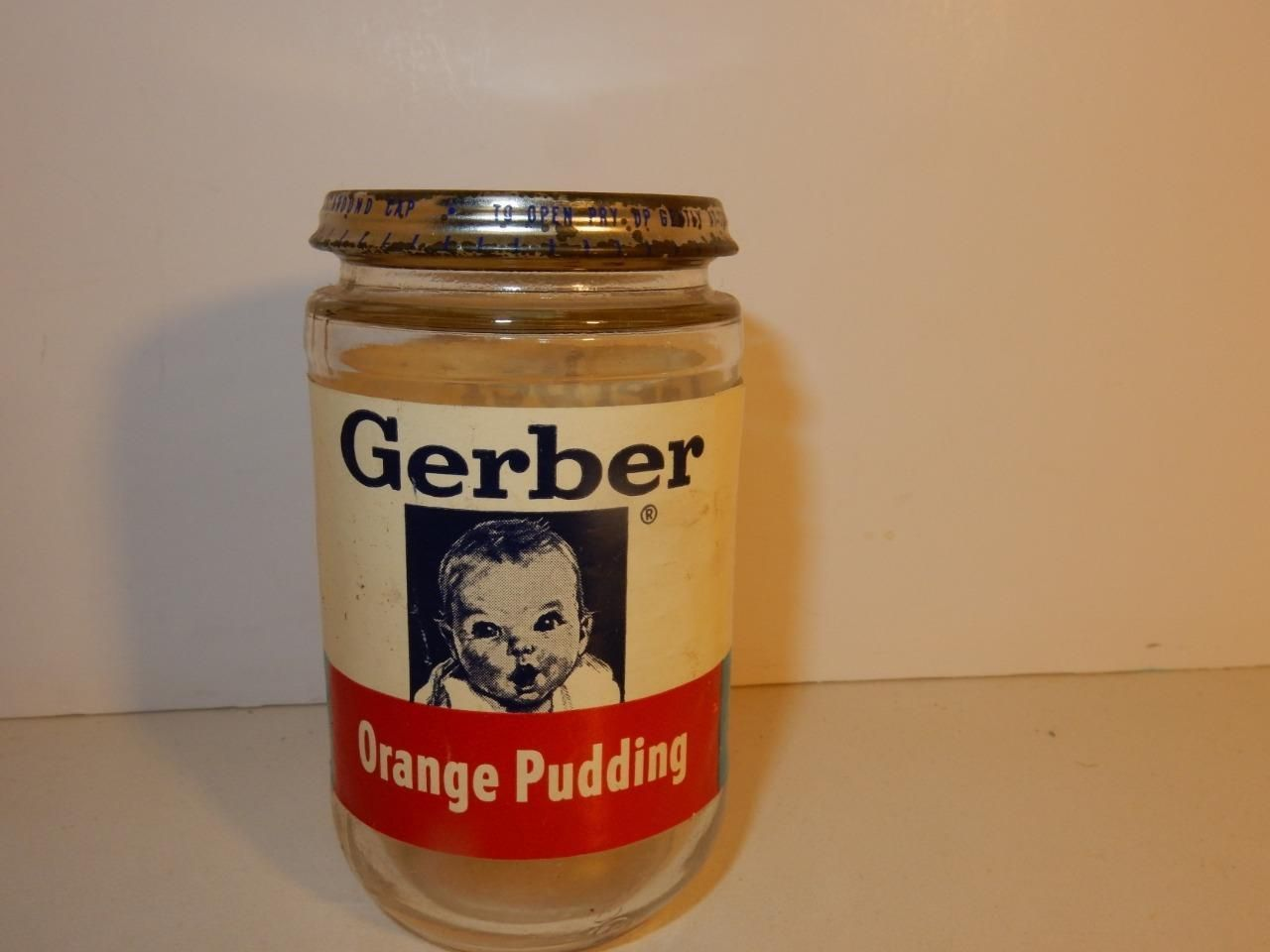Vintage babyzimmer ~ Antique vintage baby face bottle of baby food jar gerber 1950s
