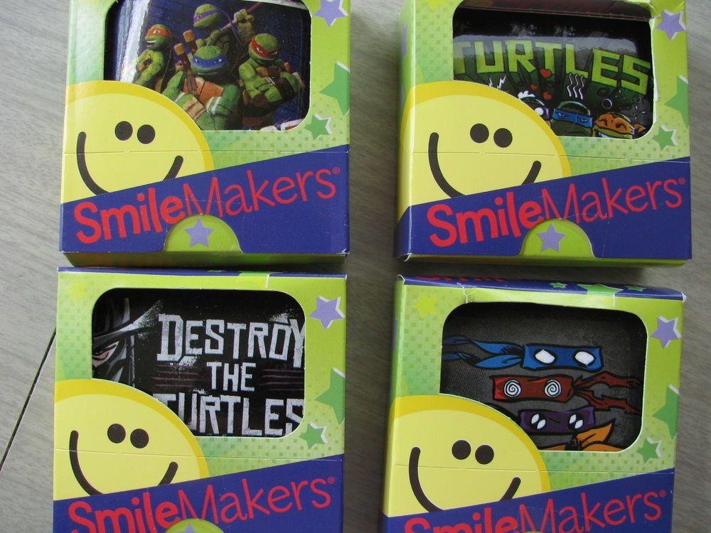 4 boxes Teenage Mutant Ninja Turtles Smile Makers 300 stickers 2-1/2