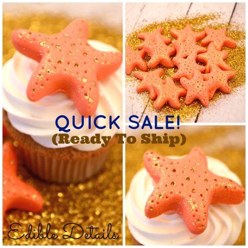 Glitter Starfish cake