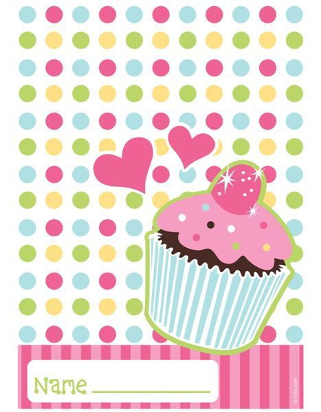 """Plastic loot bags measure 6.5"""" wide by 9"""" tall, and match our Sweet Treats cupcake-design party supplies.  Features a space to write each of your little party goers names"""