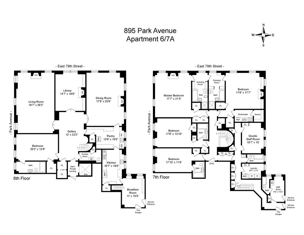 895 Park Avenue 67a New York Ny 10075 Sales Floorplans Property Records Realtyhop Park Avenue Floor Plans Park Avenue Apartment
