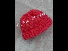 Cappellino Neonato 0 3 Mesi Alluncinetto Youtube Capellini