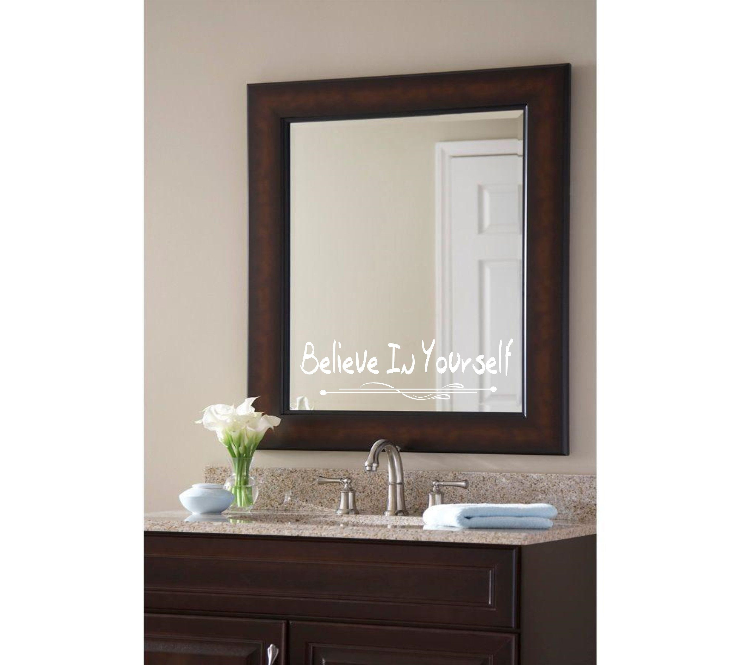 Inspiration Qoutes For Bathroom Mirror By Tkgraphicsstore On Etsy