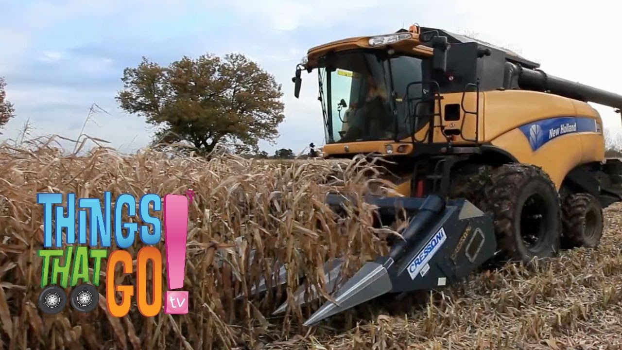 Combine Harvester Farm Machine Videos For Kids Children