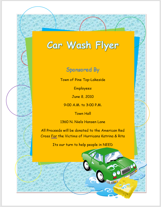 Car wash flyer template flyers and brochures by mk farooq car wash flyer template maxwellsz