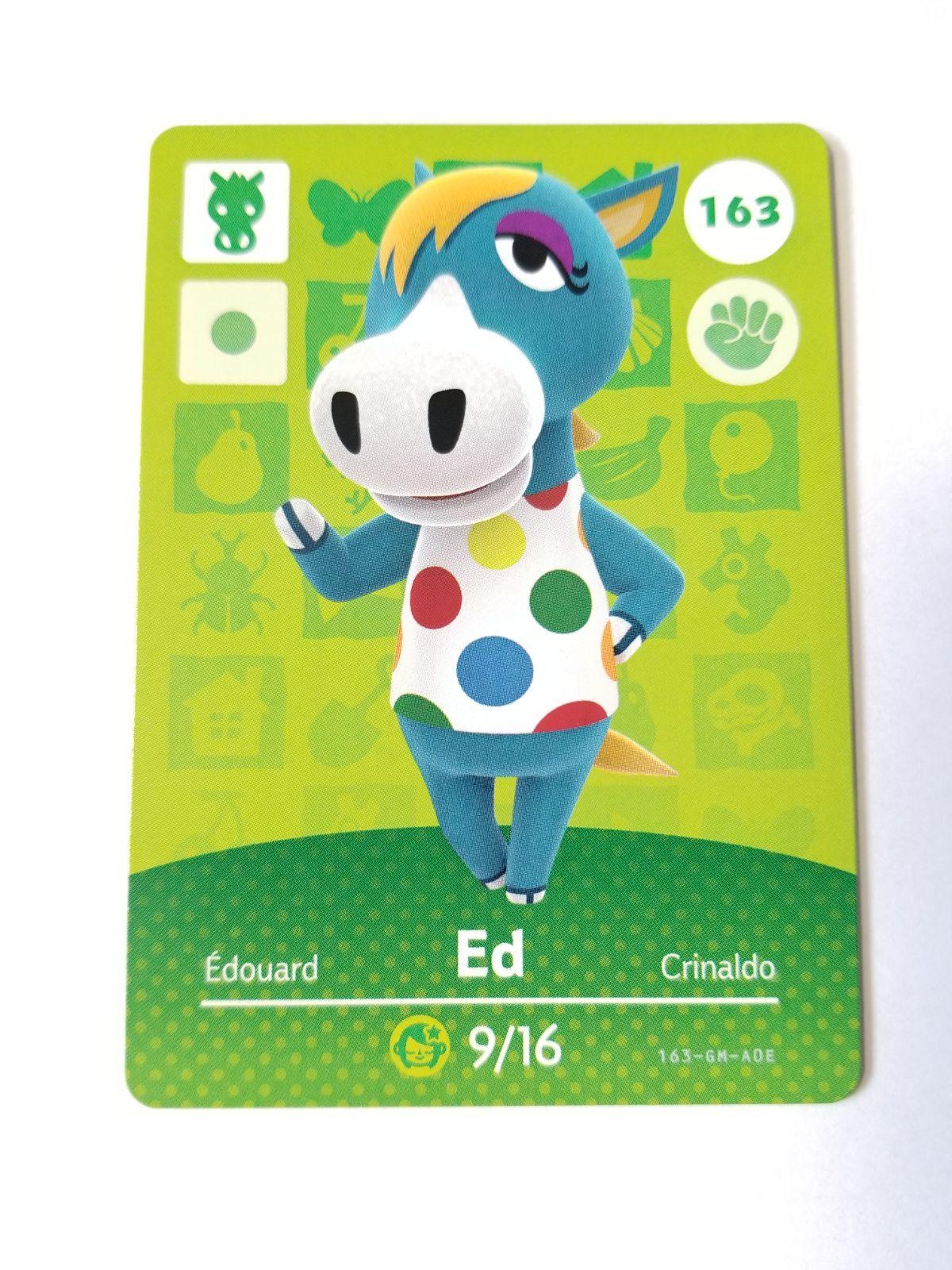 Animal Crossing Amiibo Card Ed 163 Mercari in 2020