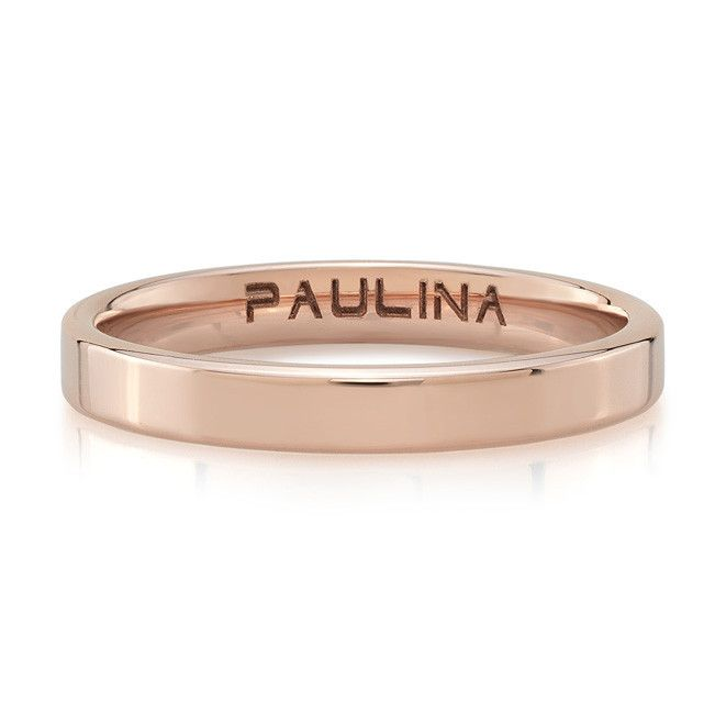 #paulinajewelry #rings #goldbands PLAIN BAND / made by hand in solid 18k rose gold