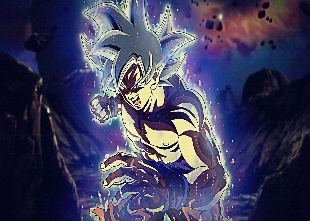 Dragon Ball Super Poster By Matt Tress Displate In 2021 Dragon Ball Wallpapers Goku Ultra Instinct Wallpaper Anime Dragon Ball Super