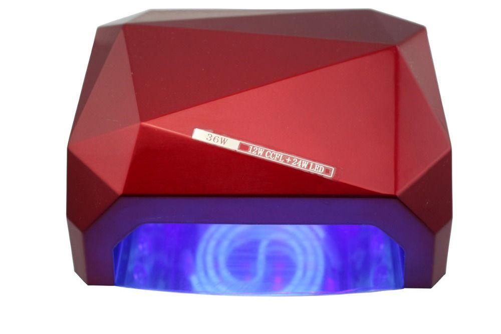36W UV Lamp LED Ultraviolet Lamp  Nail Dryer Nail Lamp Diamond Shaped CCFL Curing for Gel Nails Polish Nail Art Tools TP20