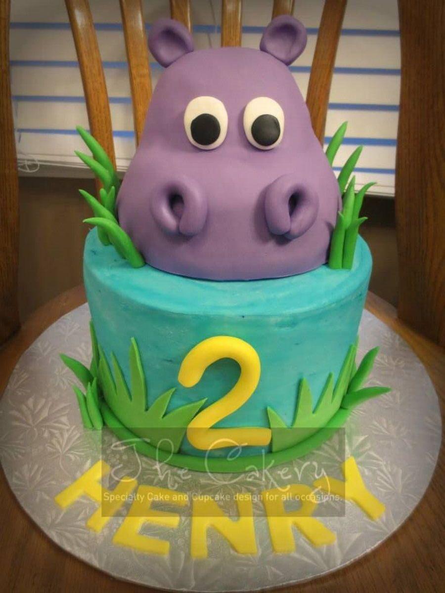Hippo Cake On Cake Central Dekorcia Torty Pinterest Cake