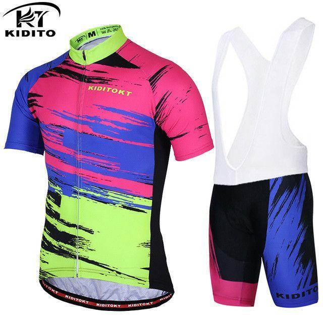 KIDITOKT Shamus Pro Cycling Jersey set   Bike uniform Cycle shirt Ropa  ciclismo   Bicycle Wear MTB Cycling Clothing cycling set acf098642