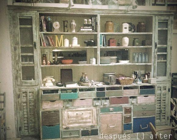 Alacena de materiales de derribo a display cabinet made for Muebles de derribo