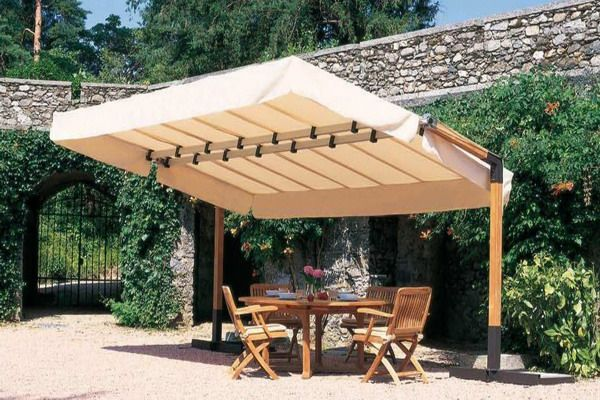 Wooden Gazebo Patio Umbrella Model Image