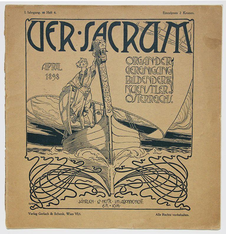 Como Dissidencia Dessa Sociedade Fundou Em 1897 O Grupo Secessao O Grupo Editava Tambem A Revista Ver Sacrum P Gustav Klimt Art Nouveau Illustration Klimt