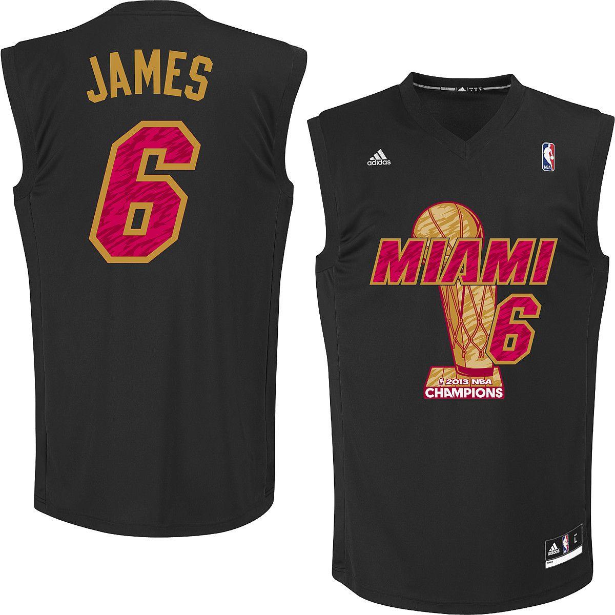 huge discount 03d5b 7e830 adidas Miami Heat LeBron James 2013 NBA Finals Champions ...