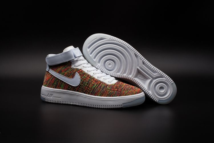 nouveau style 47808 48022 Newest Nike Air Force 1 Mid Flyknit Multi Color White ...
